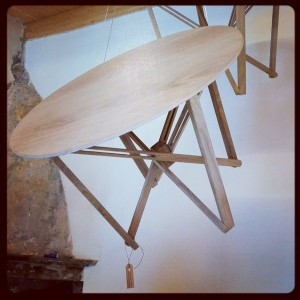 Best thinking – a beautiful wooden table hand-made by convicts for Plinio Il Giovane @ Cascina Cuccagna