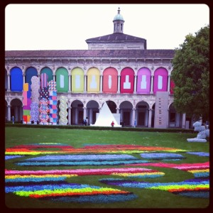Best overall view - colourful installation by Jacopo Foggini @ Interni Legacy, Università Statale
