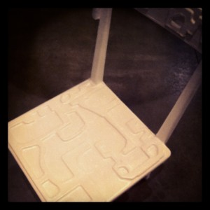 The most useless - Walking Chair (with carved seat) @ Austrian Design @ la Pelota