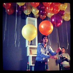 Most intriguing performance - Ballon music by Painé Cuadrelli @ Appartamento Lago, via Brera 30