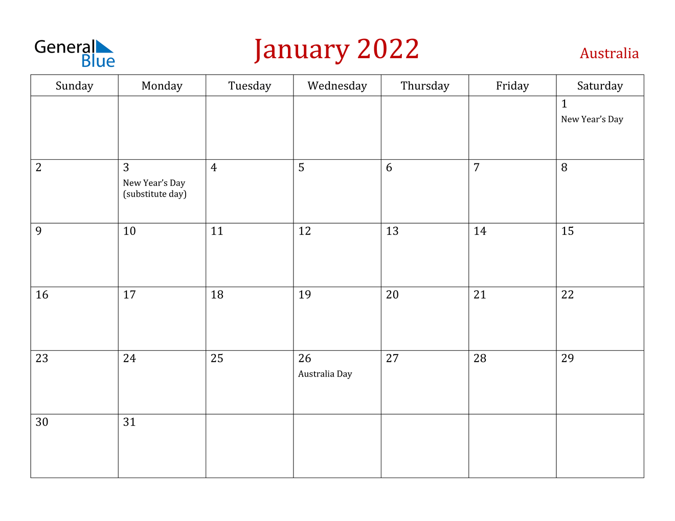 Remembering bill due dates is easy with a system for noting what needs to be paid and whether you've done with these free printable bill calendars. January 2022 Calendar - Australia