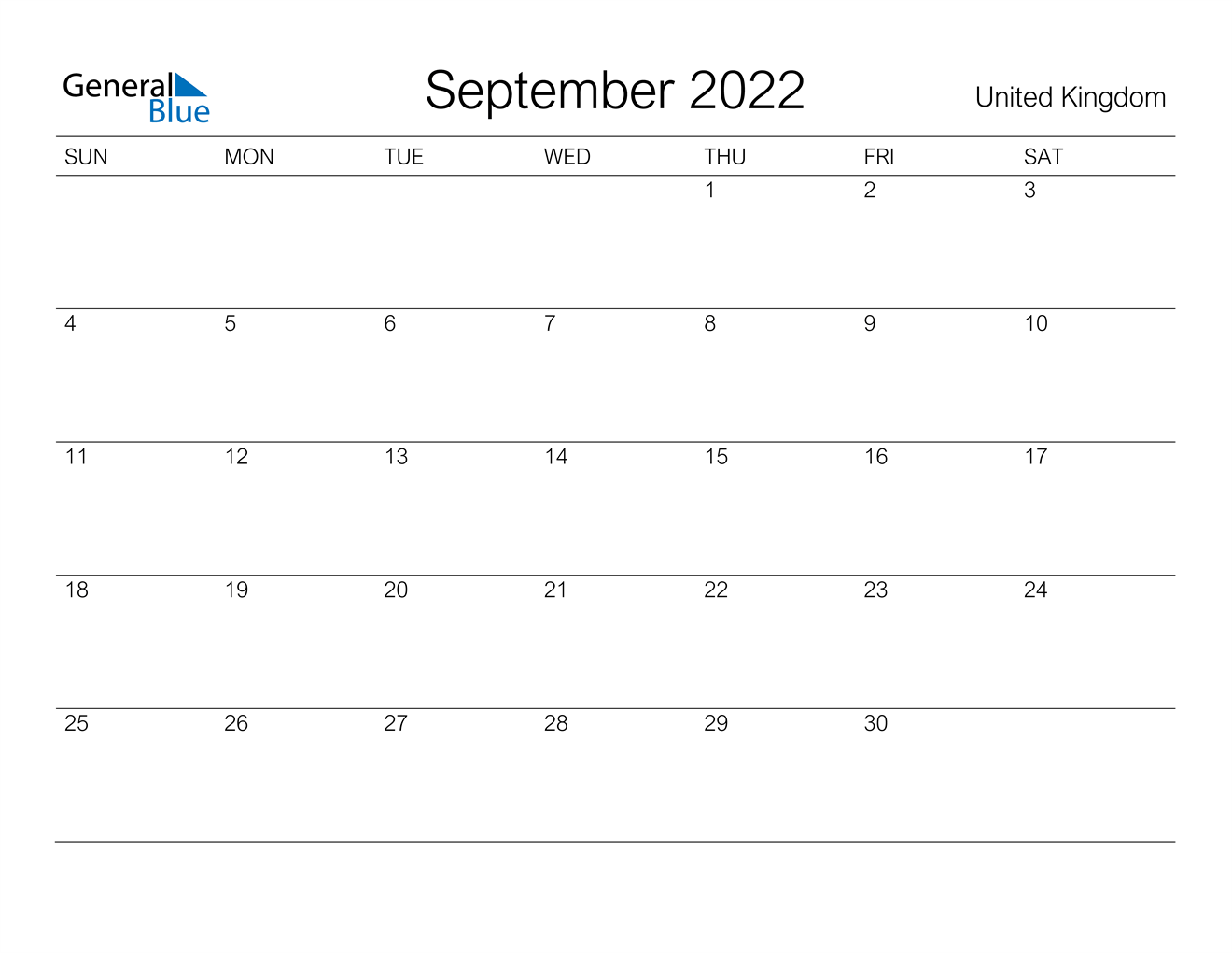 Remembering to pay your bills each month isn't always easy, especially when your bills are d. September 2022 Calendar - United Kingdom