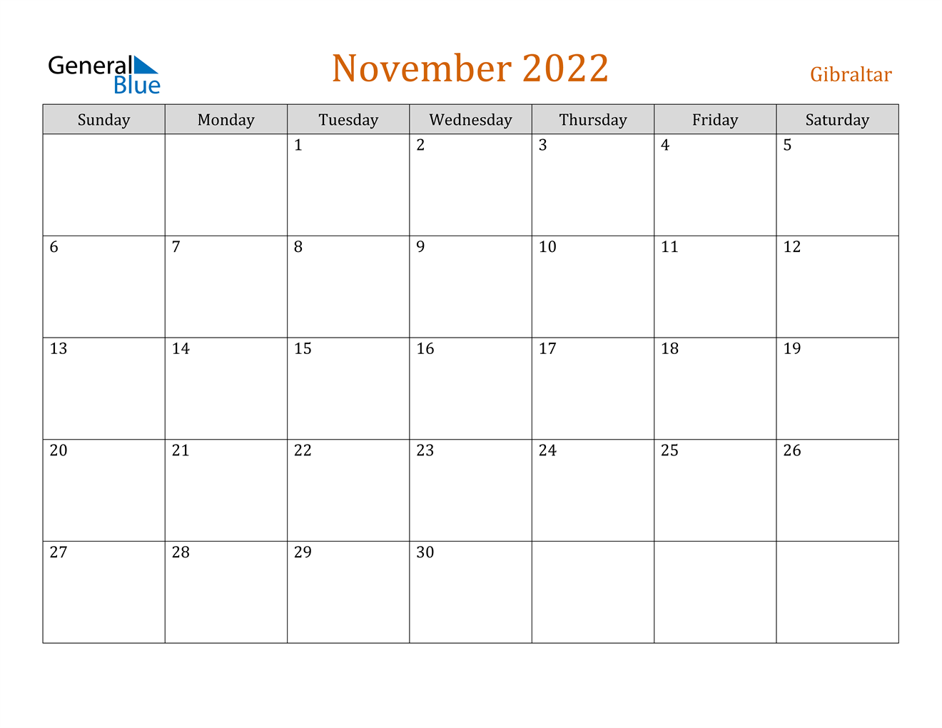 These include monthly calendars and even complete 2021 planners. November 2022 Calendar - Gibraltar