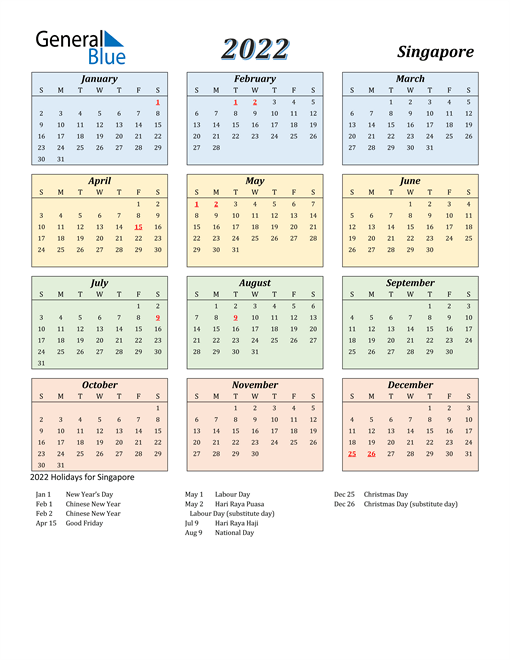 Download a free, printable calendar for 2021 to keep you organized in style. 2022 Singapore Calendar with Holidays