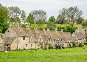 Bibury Village in the Cotswold in United Kingdom a few hours driving from London