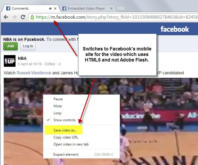 facebook download video