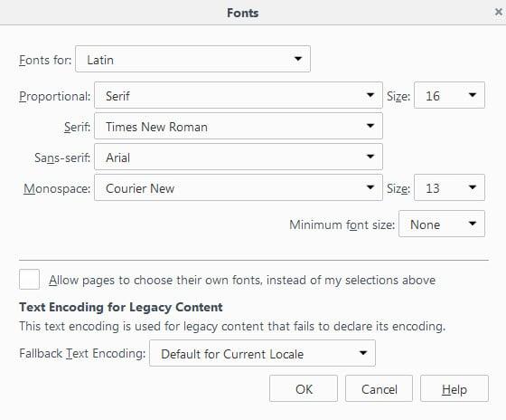 firefox font downloads