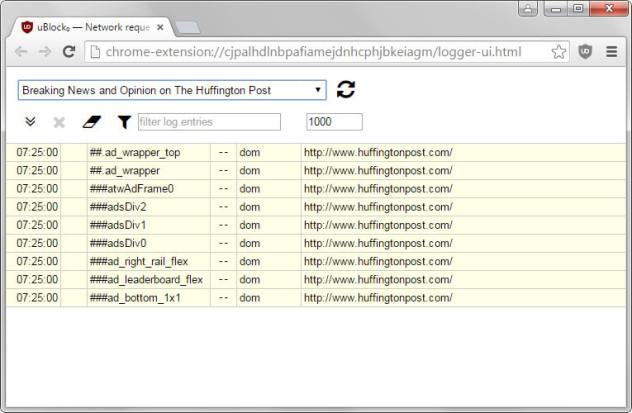 ublock origin log