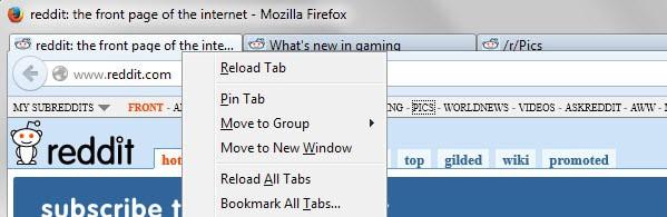 Cara menyimpan semua tab yang terbuka dengan cepat di browser