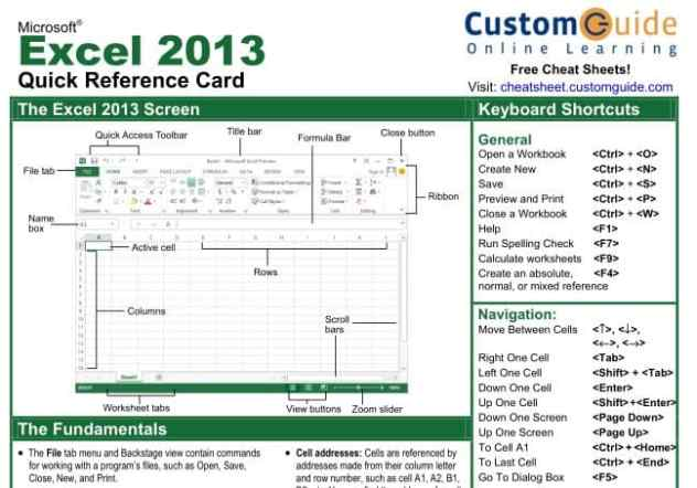 office 2013 reference card