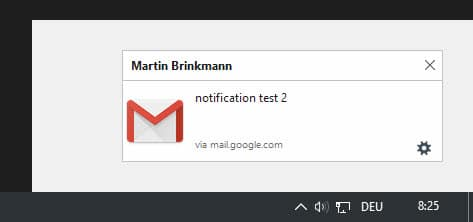 Firefox notifications