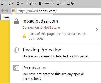 firefox connection not secure