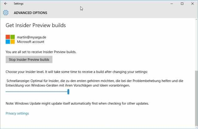 stop windows insider builds