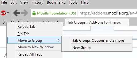tab groups move