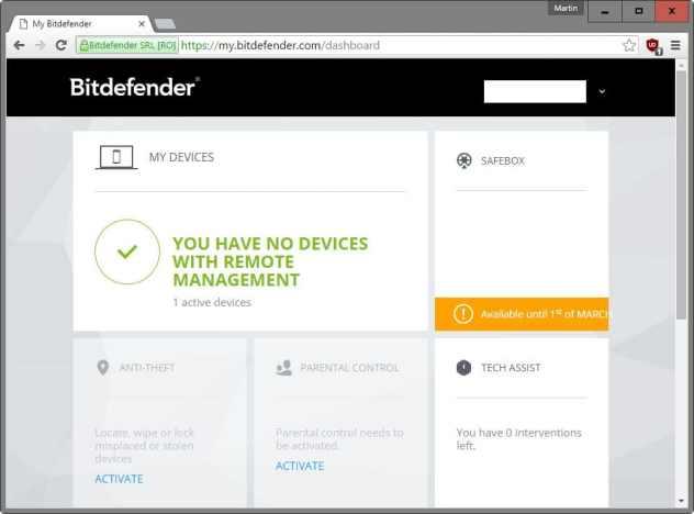 mybitdefender online