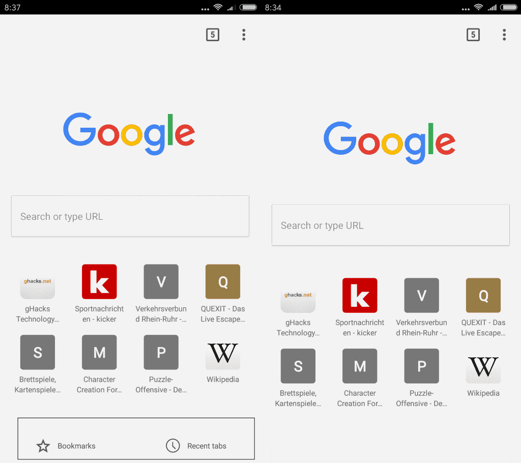 Chrome For Android Restore Bookmarks And Recent Tabs