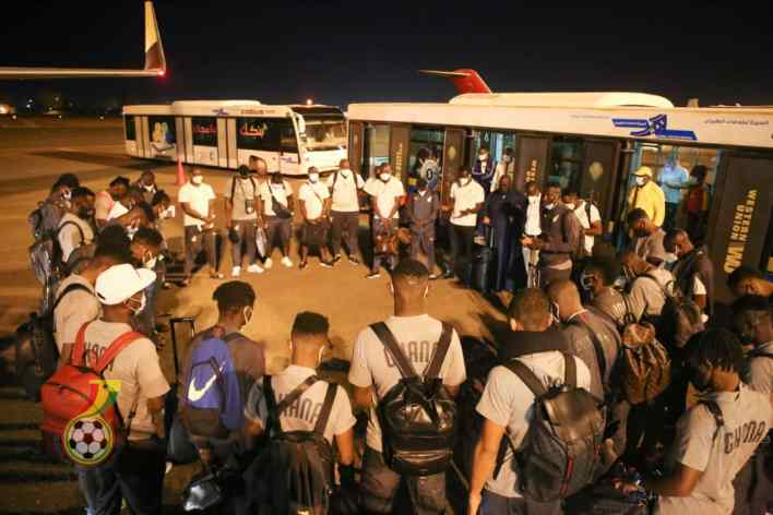 Pictures: Ghana's contingent arrives in Sudan for Tuesday's tie