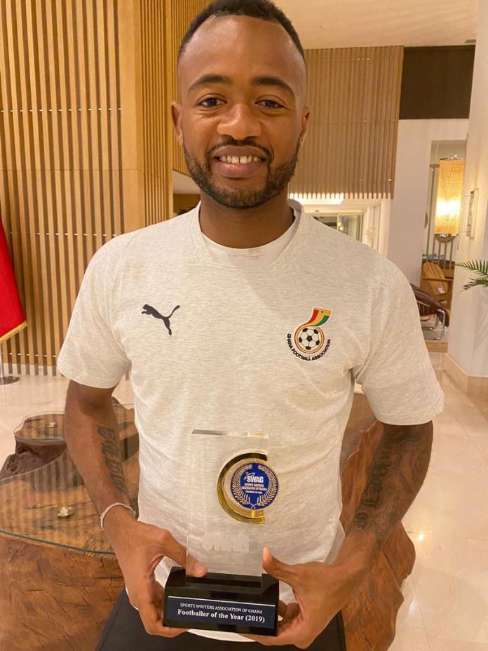 Jordan Ayew beats Thomas Partey to win SWAG Footballer of the Year award