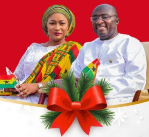 Vice President of the Republic of Ghana, Dr. Mahamudu Bawumia (r) and wife, Samira Bawumia (l)