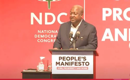 Mahama vows to lead Ghana out of financial crisis