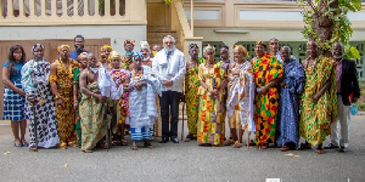 Former President, Rawlings with Kings and Queens from Ave