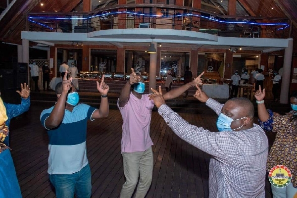 Photos: MPs defy Akufo-Addo's directive to organise a party at Aqua Safari 10