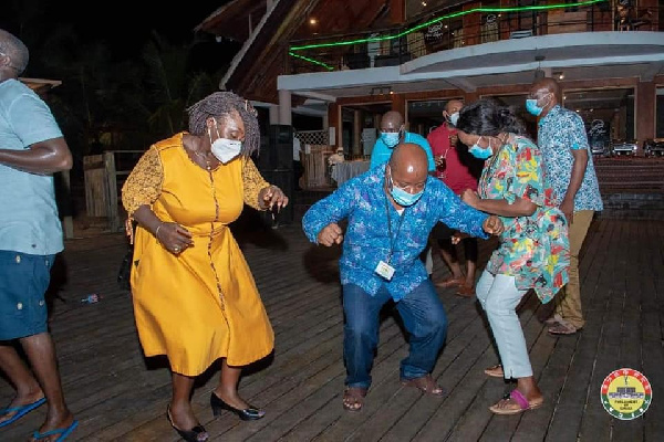 Photos: MPs defy Akufo-Addo's directive to organise a party at Aqua Safari 5