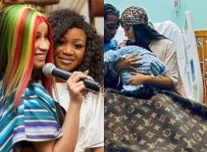 Actress Akuapem Poloo has congratulated rapper Cardi B on her newborn baby