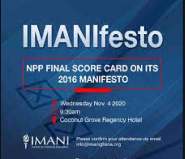 Full text: IMANI's final report on delivery of NPP govt's 2016 manifesto promises
