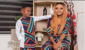 Akuapem Poloo with her son
