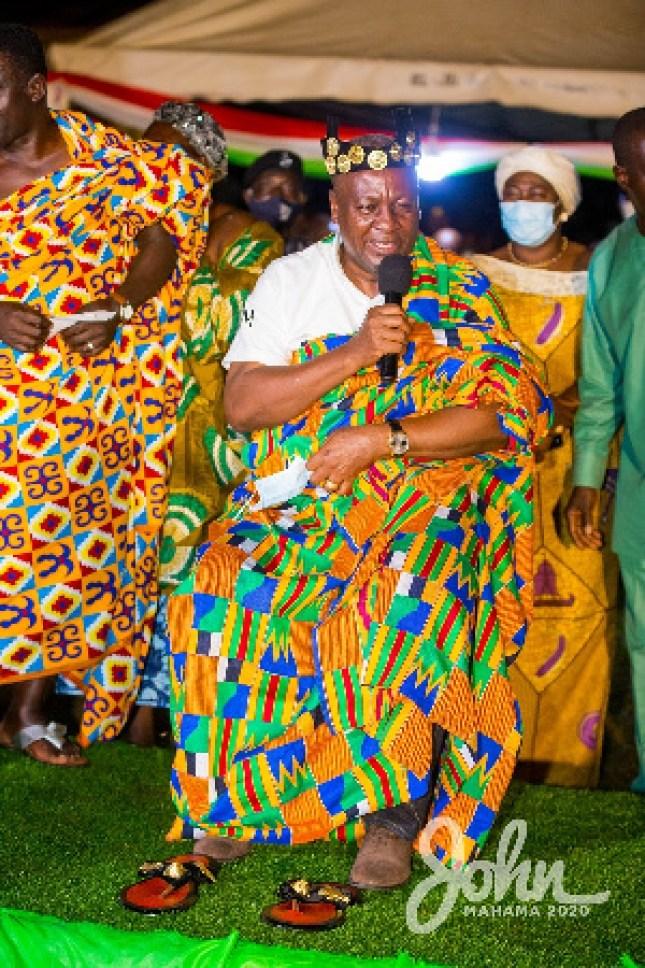 NDC Flagbearer, John Dramani Mahama enstooled as Nkosuohene