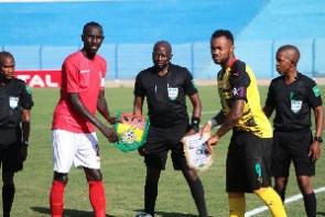 Striker Jordan Ayew captained the Black Stars today in the absence of Andre Dede Ayew