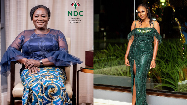 Prof Naana Opoku Agyemang, NDC running mate, and actress Yvonne Nelson