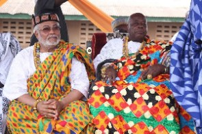 The King of the Anlo State, The Awoemefia, Togbi Sri III and Former Pres. Jerry John Rawlings