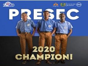 PRESEC, Legon are winners of the 2020 NSMQ