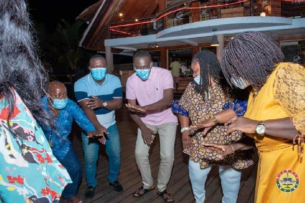 Photos: MPs defy Akufo-Addo's directive to organise a party at Aqua Safari 6