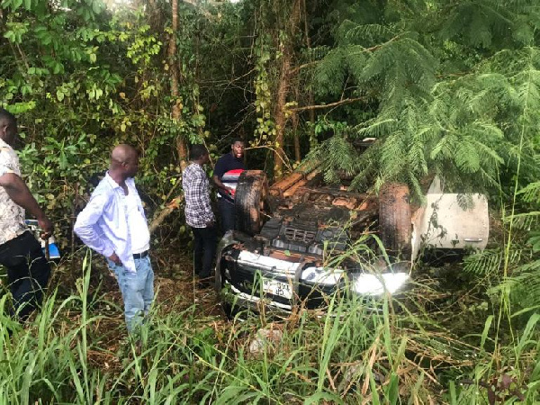 NPP's Abronye involved in an accident