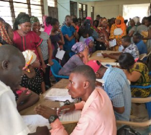Registration is still ongoing in the Eastern Region