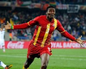 Black Stars striker , Asamoah Gyan