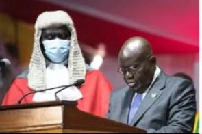 President Nana Addo Dankwa Akufo-Addo and Chief Justice Kwasi Anin-Yeboah