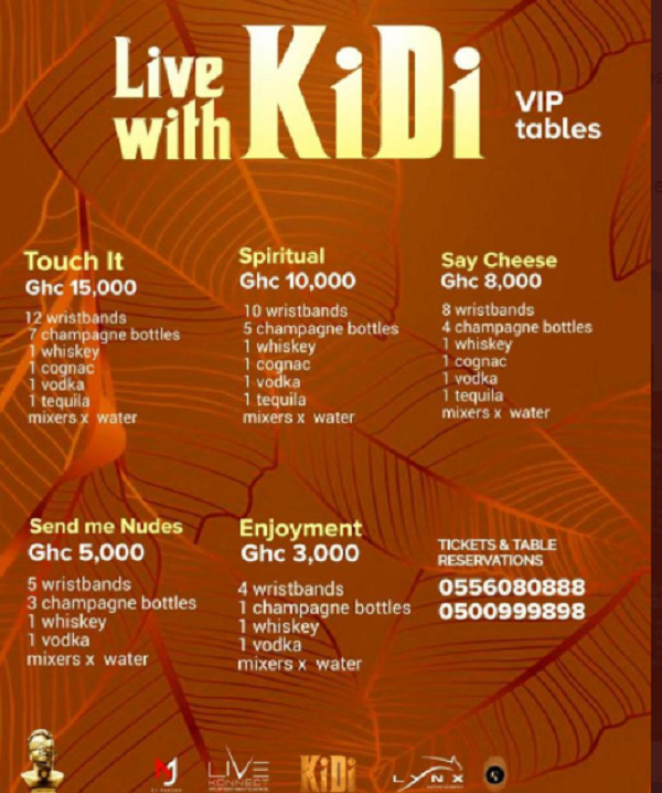 KiDi 'dragged' on social media for charging GH¢15,000 as ticket fee for concert 1
