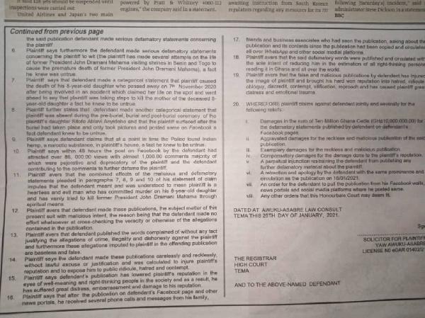 Koku Anyidoho serves GHC10 million defamatory suit on Mahama boy. 7