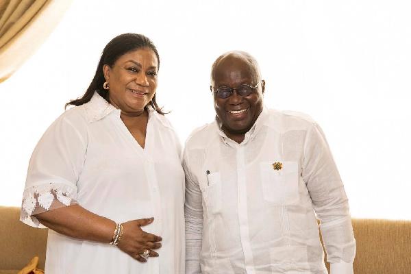 Rebecca Akufo-Addo prays for her husband as Ghana goes to the polls
