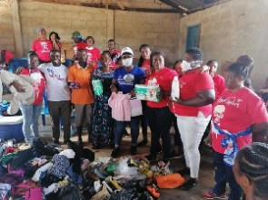 The items donated by the  NPP Loyal Ladies Chapter in UK included second-hand clothing and shoes