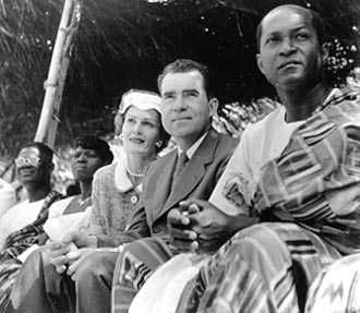 President Nixon at Ghana's independence