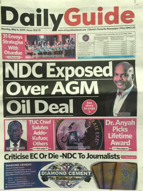 Newspaper Headlines of Monday, 6 May 2019 (PHOTOS) 7