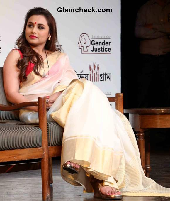 Get The Look Rani Mukherjees Stunning White And Gold