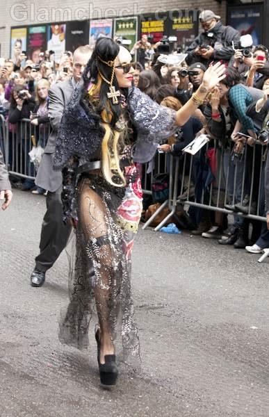 Lady GaGa Styles David Letterman Show