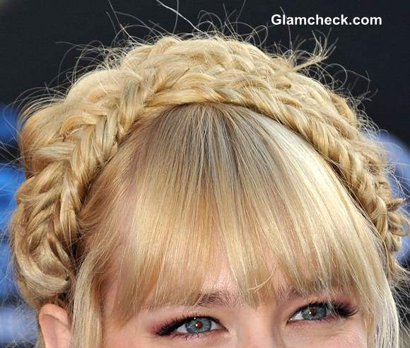 Doubly Gorgeous Beth Behrs Sports Twin Milkmaid Braids