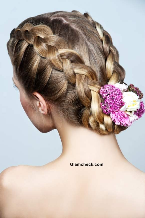 How To Make Two Row Dutch Braids And Bun Hairstyle